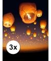 3x witte wensballonnen 50 x 100 cm