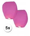 5x roze wensballon