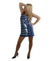 Blauw pailletten jurkje voor dames