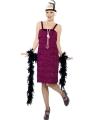 Bordeaux rode jaren 20 flapper dress