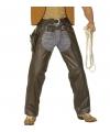 Bruine cowboy chaps lederlook