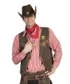 Cowboy blouse rood voor heren