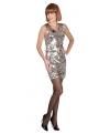 Dazzle jurkje zilver met pailletten