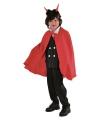 Dracula cape kinderen rood