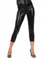 Glimmende zwarte capri legging
