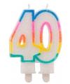 Glitter cijferkaars 40 jaar