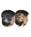Grijze panterprint oorwarmers