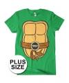 Grote maat Ninja Turtles verkleed t-shirt voor heren
