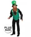 Grote maat St Patricks Day gnoom vest voor heren
