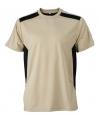 Heren sport of werk t-shirt beige