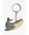 Houten bultrug walvis sleutelhanger