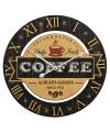 Houten klok koffie zwart 40 cm