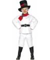 Kinder sneeuwman kostuum wit