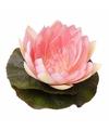 Kunst waterlelie roze kleur