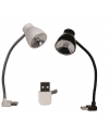 Lampje met USB aansluiting wit 18 cm