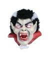 Latex Dracula masker met haar