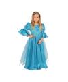 Luxe blauw prinses kostuum voor meisjes