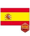 Luxe vlag Spanje met wapen