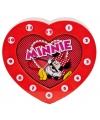 Minnie Mouse klok hartjesvorm