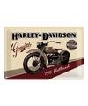 Muurplaatje Harley  Davidson Flathead