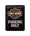 Muurplaatje Harley Davidson parking 15 x 20 cm