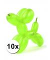 Neon modelleerballonnen 10 stuks
