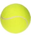 Opblaasbare tennisbal XL geel 20 cm