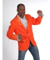 Oranje colbert voor heren