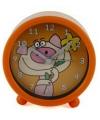Oranje wekker met een varken