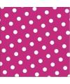 Papieren servetten roze met stippen 30 stuks