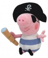 Pluche Peppa Big George piraat 23 cm