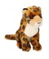 Pluche zittende jaguar knuffel 25cm