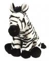Pluche zittende zebra 30 cm