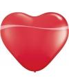Qualatex hartjes ballon rood 90 cm