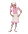 Roze konijnen jurkje voor kleuters