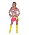 Seventies hippie jurkje met print