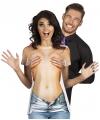 Shirt met naakte vrouw opdruk
