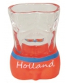 Shotglas Holland man oranje