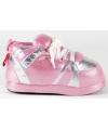 Sneaker sloffen meisjes roze/zilver