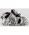 Sneaker sloffen meisjes zebra zwart/wit