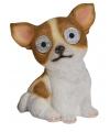 Solar tuinbeeld Chihuahua hond 16 cm