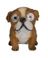 Solar tuinbeeld Engelse Bulldog hond 16 cm