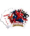 Spiderman Warriors uitnodigingen 6 stuks