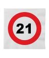 Stopbord servetten 21 jaar