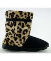 Trendy meisjes hoge sloffen luipaard bruin