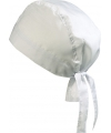 Wit gekleurde bandana uni 1