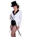 Witte lange slipjas voor dames