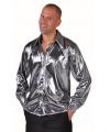Zilver metallic overhemd voor heren